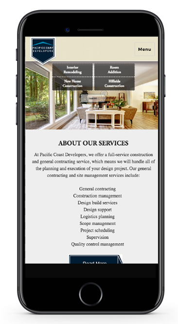 PCD Website Mobile View