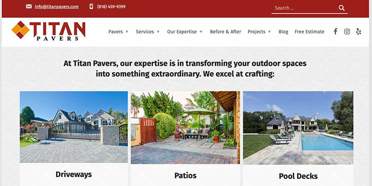 Titan Pavers Website