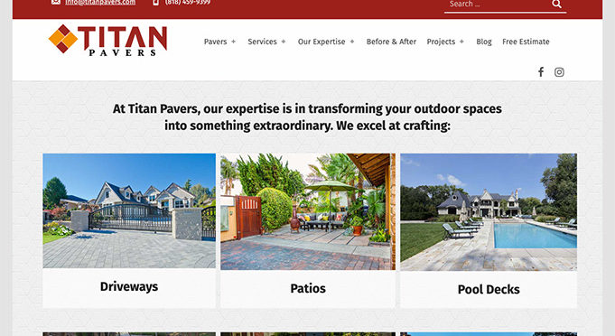 Website for Titan Pavers