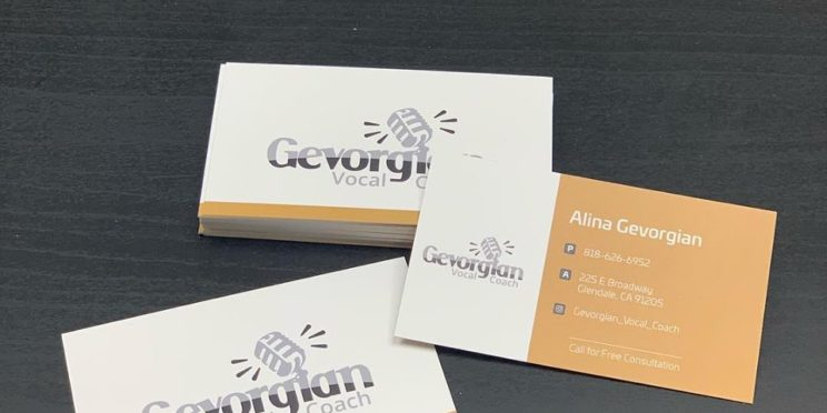 Business Card for a Vocal Coach
