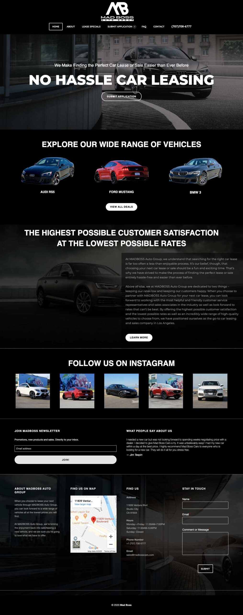MadBoss Website Portfolio Sample